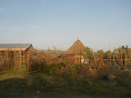Traditional thatched living rooms