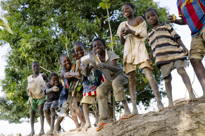 Whatever else you may think they may lack, these children in Sibi village, Burkina Faso, definitely have verve, and look full of the energy they need to play!